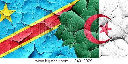 Democratic republic of the congo flag with Algeria flag