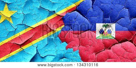 Democratic republic of the congo flag with Haiti flag