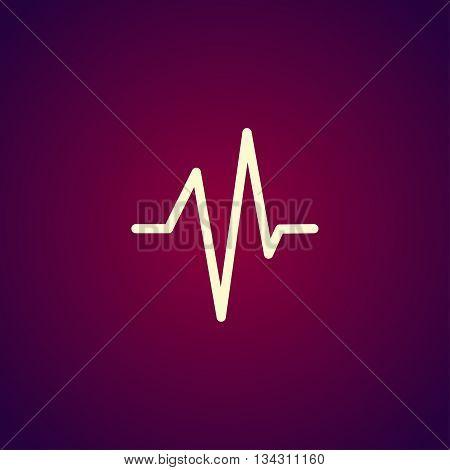 Heart Beat, Cardiogram, Medical Icon - Vector