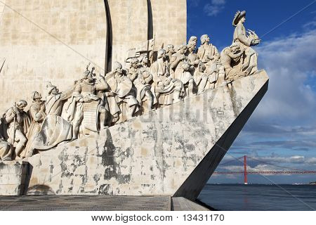 The monument for the conquerers  in Lisbon