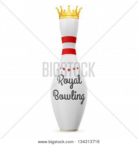 Golden Crown at white skittles isolated on a white background
