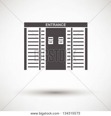Stadium Entrance Turnstile Icon