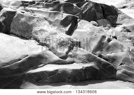 Granite background may be used as background. Black and white.
