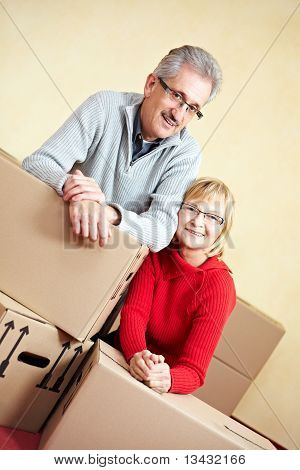 Married Couple Moving House