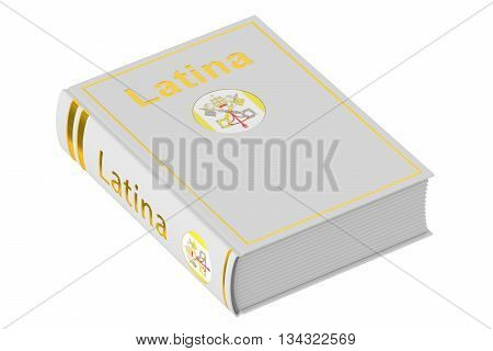 Latin language textbook 3D rendering isolated on white background