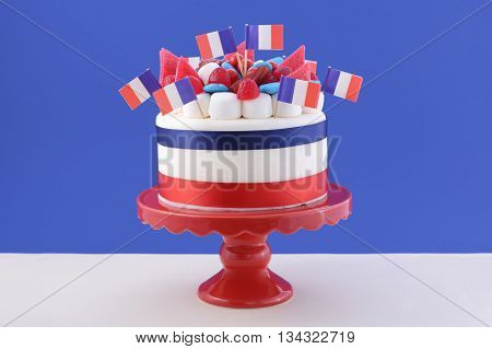 Happy Bastille Day Celebration Cake