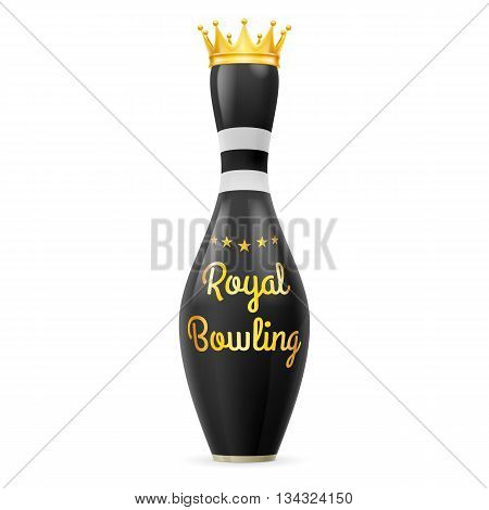 Golden Crown at black skittles isolated on a white background