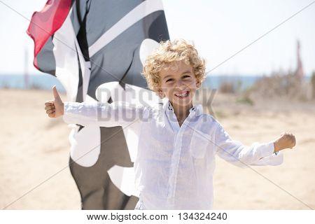 Child In A Positive Attitude