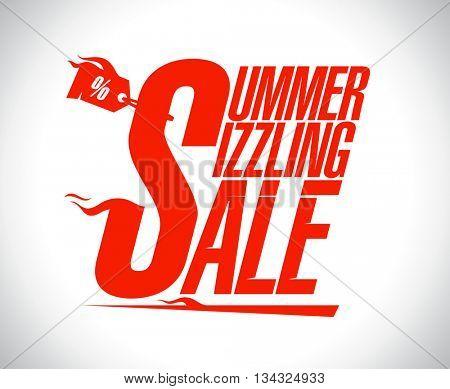 Summer sizzling sale advertising design