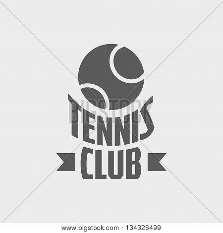 Tennis Club Logo, Badge Or Label Design Concept With Tennis Ball