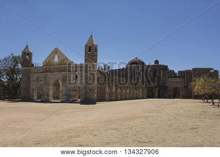 ex convento santo domingo, capilla abierta, cuilapam, oaxaca, mexico ,arquitectura siglo XI