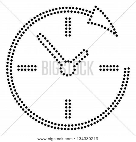 Service and support for customers around the clock and 24 hours. Dot style or bullet style icon on white.