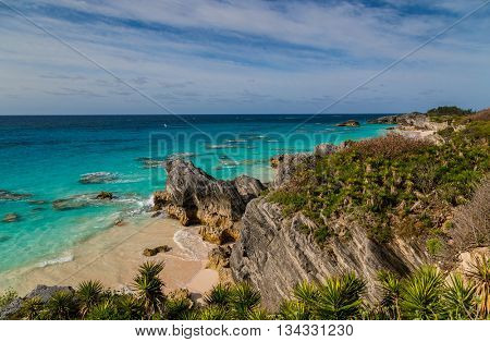 South shore Bermuda beaches and coastline.