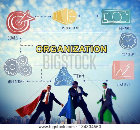 Organization Group Corporate Commitment Team Concept