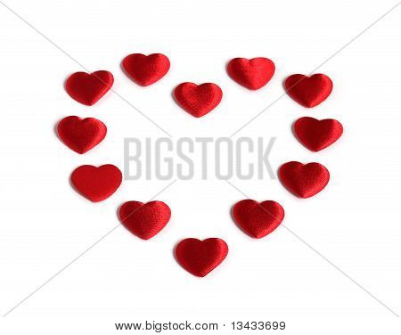 Red Heart Made Of Smaller Red Hearts