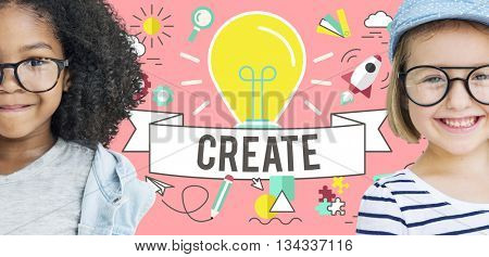 Create Ideas Imagination Plan Thinking Concept