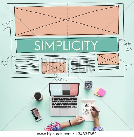 Simplicity Clean Clear Minimal Normal Simple Concept