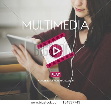 Multimedia Filmstrip Play Icon Media Concept