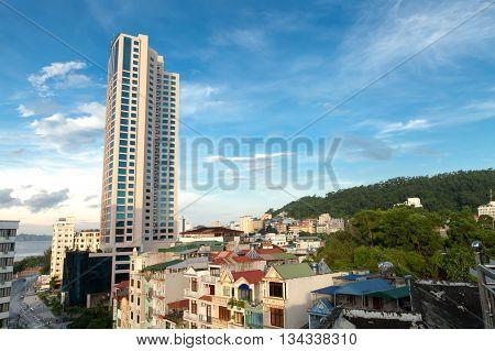 HA LONG, VIETNAM, July 28, 2015 high-rise buildings, downtown Ha Long, Vietnam provinces QuangNinh