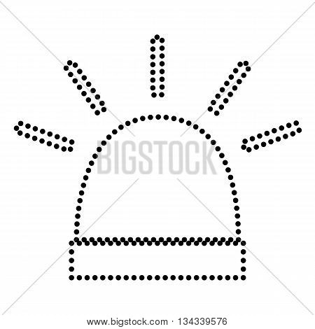 Police single sign. Dot style or bullet style icon on white.