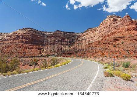 Highway 261 Also Known As Moki Dugway At Valley Of The Gods, Utah,  Usa