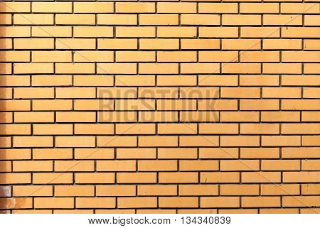 Brick texture with scratches and cracks. Rorizontalnaya masonry. Texture as background with a copy of the space.