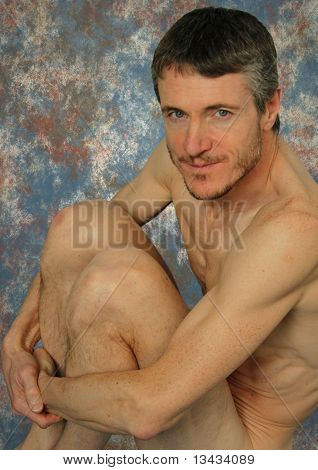 Nude Muscular Man