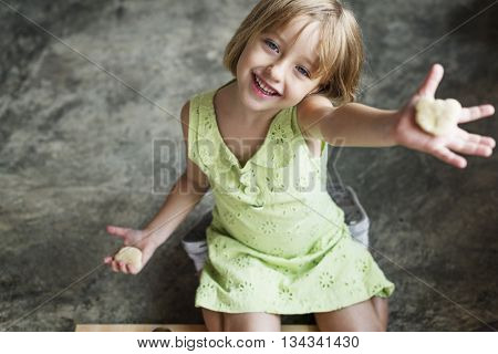 Little Girl Happiness Adolescence Cute Concept