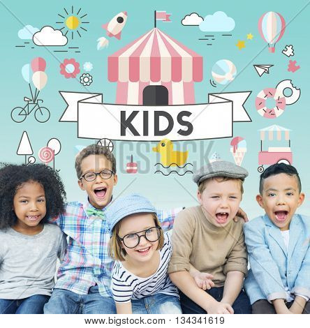 Kids Young Children People Graphic Concept