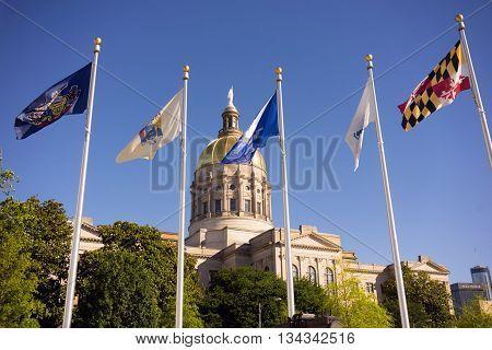 Atlanta Georgia State Capital Gold Dome City Architecture