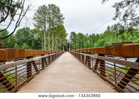 Railroad Bridge Park walking trail in Sequim Washington
