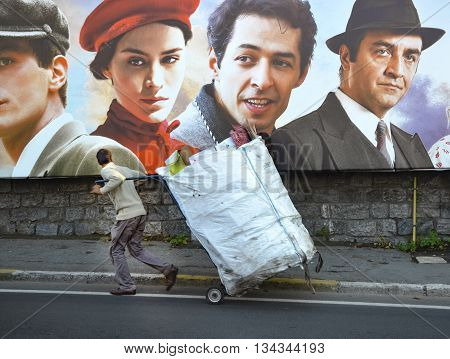 Istanbul Turkey - October 20 2013: Turkish film