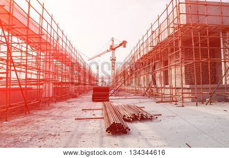 top of a construction site with sunshine