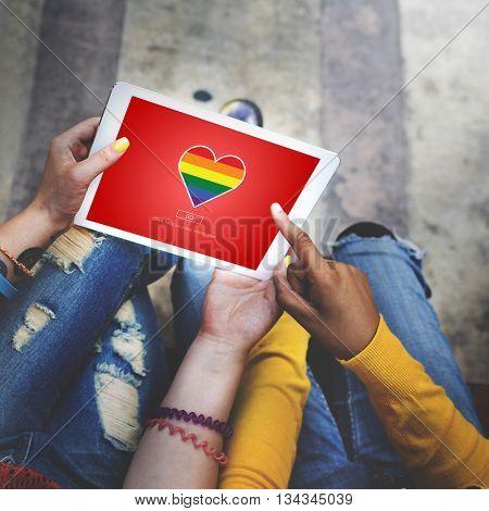 Lgbt Proud Homosexual Bisexual Transgender Concept