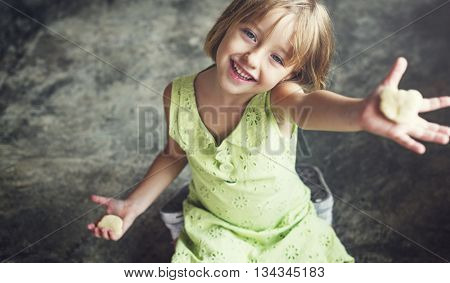 Child Hobby Casual Adolescence Girl Cookies Concept
