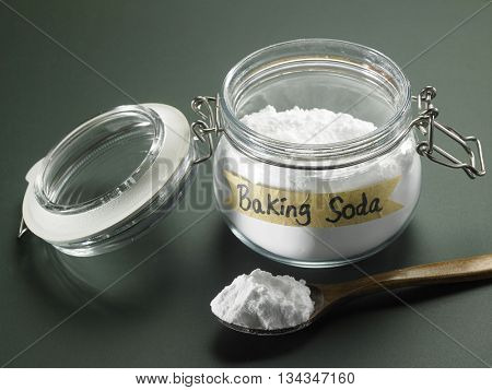 jar of baking soda on the blackboard