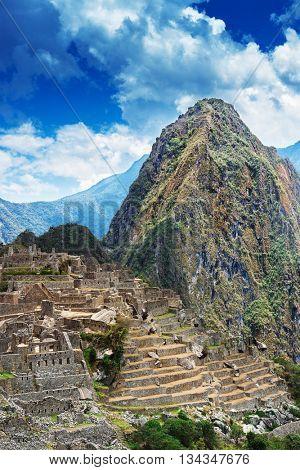 Machu Picchu and Huayna Picchu mountain