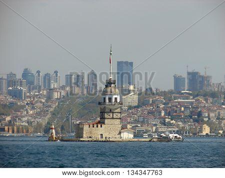 An old turkish building in the Marmara sea Istanbul