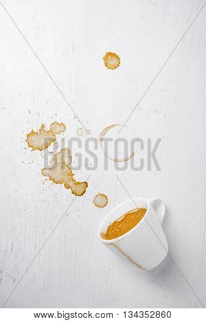 Overturned Cup Of Coffee