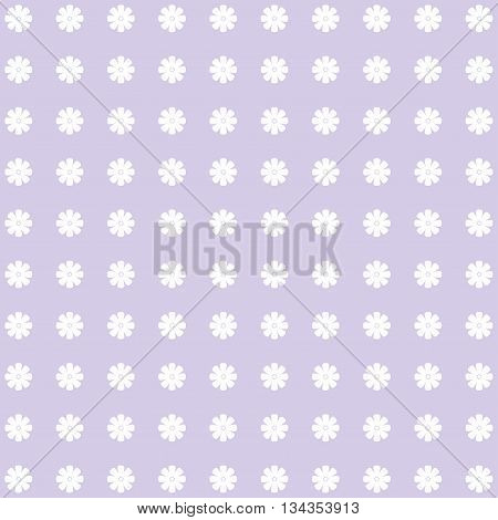 Vector Floral Pattern in lilac and white tones