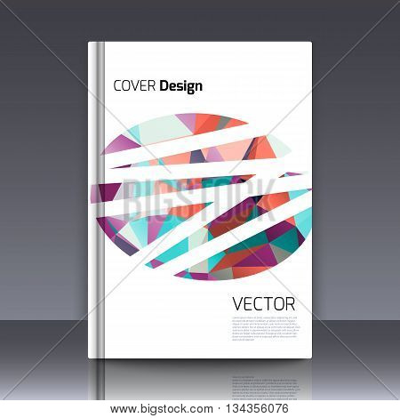 Abstract background for booklet. Abstract Background with triangles. Colorful triangles. Abstract triangles. Abstract geometry. Abstract background for covers and banners. Banner and cover for booklet