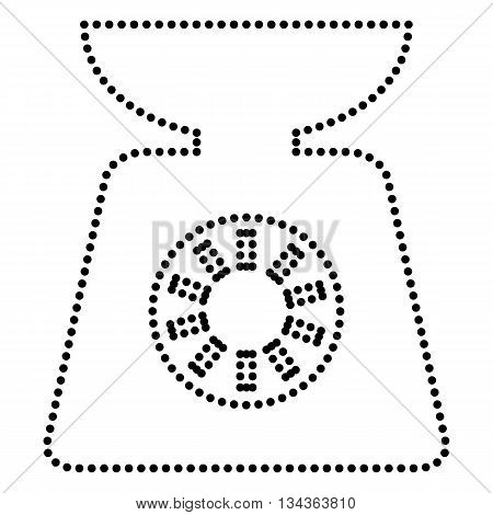 Kitchen scales sign. Dot style or bullet style icon on white.