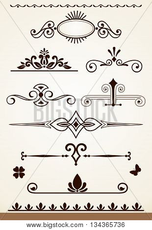 Page or paragraph dividers and decorations design