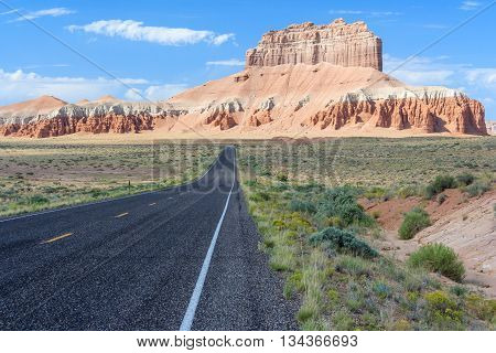 Road To Goblin Valley State Park, Utah,  Usa