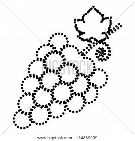 Grapes sign illustration. Dot style or bullet style icon on white.
