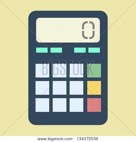 Calculator vector illustration. Calculator icon. Vector illustration