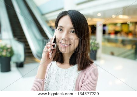 Asian woman chat on cellphone