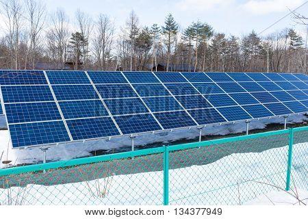 Solar panel plant station
