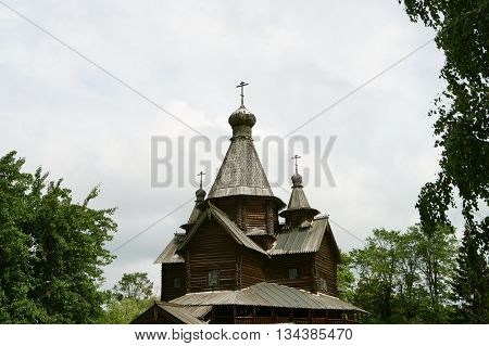 old Church-a Church built of wood without a single nail, the Russian village