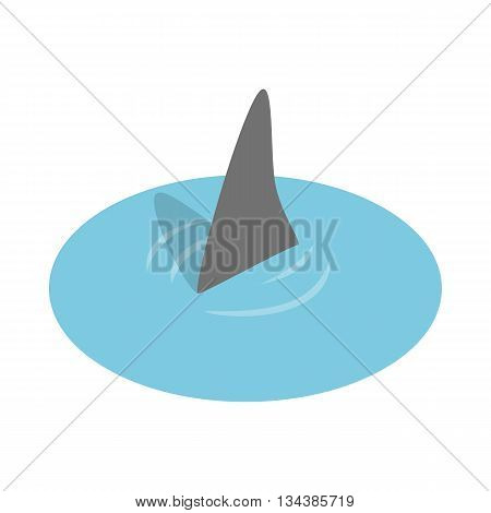 Shark in the sea icon in isometric 3d style on a white background